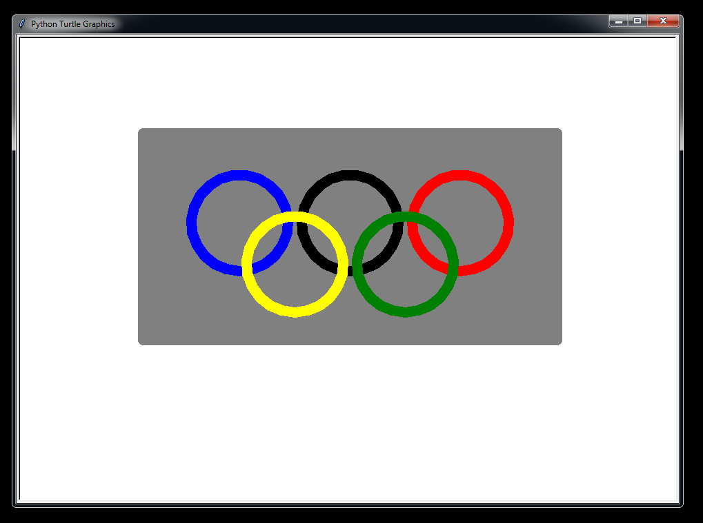 Lesson 32 Advanced Graphics Uses Olympic Rings Project